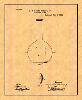 Chemical Flask Patent Print
