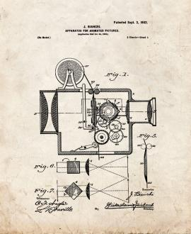 Apparatus for Animated Pictures Patent Print