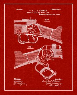 Breech Loading Firearm Patent Print