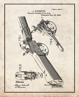 Breech-Loading Fire-Arm Patent Print
