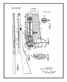 Air Rifle Patent Print