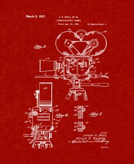 Cinematographic Camera Patent Print