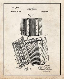 Amplified Accordion Patent Print