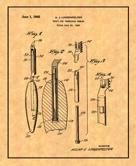 Fruit and Vegetable Peeler Patent Print
