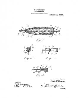 Ear-corn Holder Patent Print