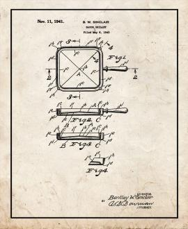 Bacon Skillet Patent Print
