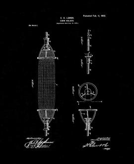 Corn-holder Patent Print