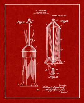 Drinking Straw Dispenser Patent Print