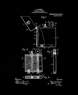Automatic Lighter Patent Print