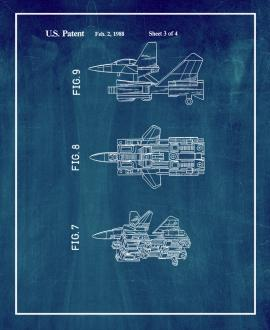 Transformers Reconfigurable Toy Jet-plane Patent Print