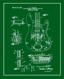 Fender Electromagnetic Pickup For Lute-type Musical Instrument Patent Print