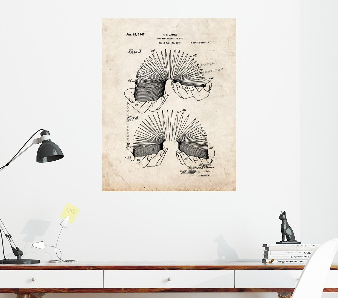 Slinky Patent Print Old Look