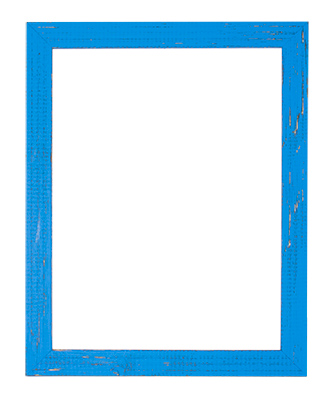 Distressed Bright Blue Frame