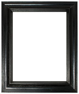 Black with Deep Edges Frame