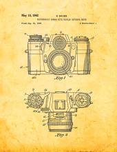 Photographic Camera With Coupled Exposure Meter Patent Print