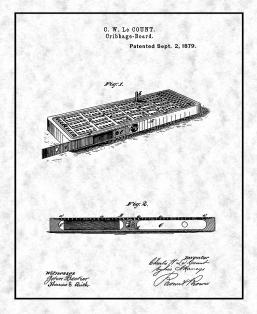 Cribbage Board Patent Print