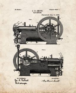 Gas Engine Patent Print