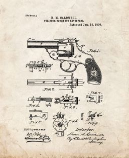 Cylinder Catch For Revolvers Patent Print