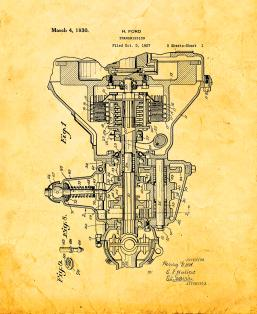 Henry Ford Transmission Patent Print