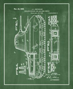 Insulated Military Tank Patent Print