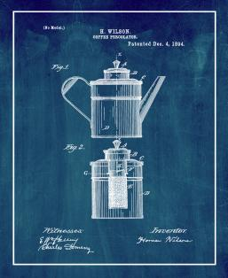 Coffee Percolator Patent Print