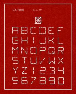 Font Of Characters Patent Print