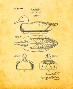 Duck Decoy Patent Print