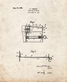 Brake For Toy Motors Patent Print