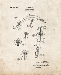Fishhook Assembly Patent Print