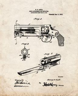 Knife Attachment For Revolvers Patent Print