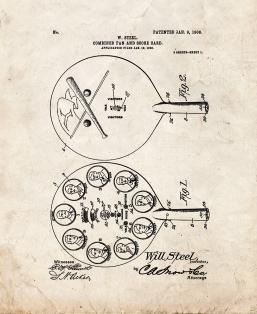 Combined Fan And Score-card Patent Print