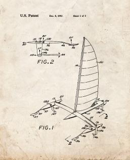 Foil Suspended Watercraft Patent Print