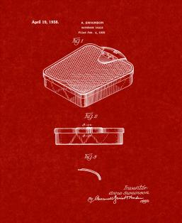 Bathroom Scale Patent Print