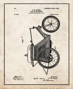 Gas Or Oil Motor Patent Print