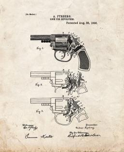 Lock For Revolvers Patent Print