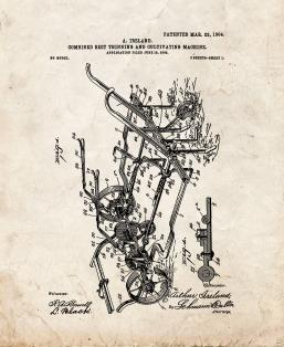 Combined Beet Thinning And Cultivating Machine Patent Print