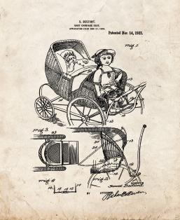 Baby Carriage Seat Patent Print