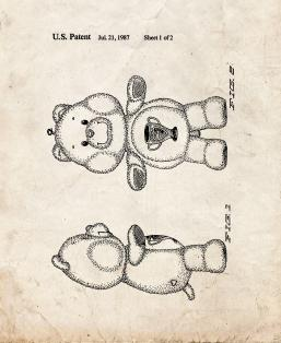 Champ Care Bear Patent Print