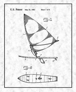 Composite Wind Surfboard Patent Print