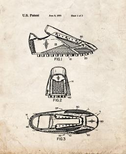Soccer Training Shoe Patent Print