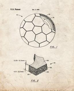 Soccer Ball With Fiber Reinforced Polyurethane Cover Patent Print