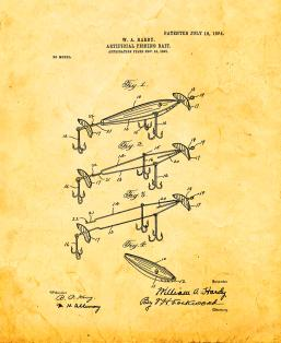 Artificial Fishing-bait Patent Print