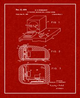 Computer Mouse Patent Print