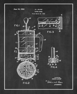 Coffee Maker Patent Print