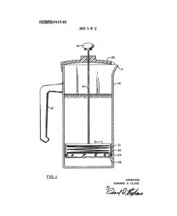 Coffee Brewer Patent Print