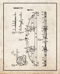 Compound Archery Bow Patent Print