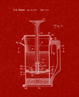 Beverage Making Device Patent Print