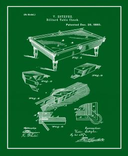 Billiard Table Patent Print