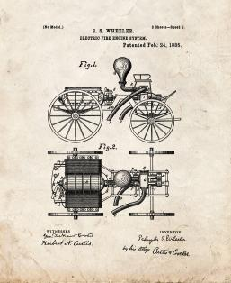 Electric Fire-engine System Patent Print