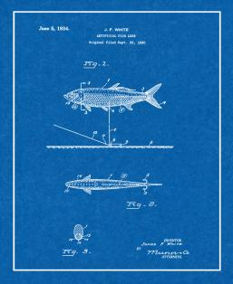 Artificial Fish Lure Patent Print
